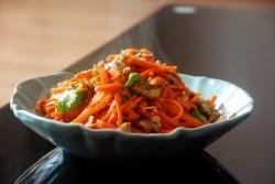 青椒胡萝卜炒肉卷