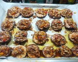 肉末烤香菇