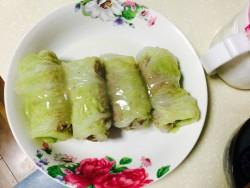 翡翠白玉卷(清蒸肉酿白菜卷)的做法