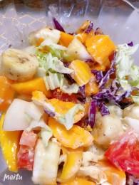 火腿蔬果沙拉的做法_美食方法