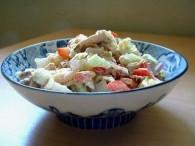 荔枝鸡肉沙拉的做法