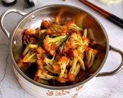 干锅花菜排骨