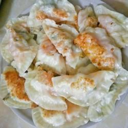 小策海鲜今日菜谱:生蚝煎饺 牡蛎,海蛎,韭菜豆腐饺子